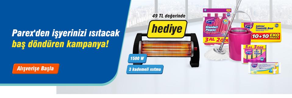 KDV dahil 75 TL'lik Parex ürün alışverişinize Conti CQS-2500 Atomik Elektrikli Isıtıcı HEDİYE!