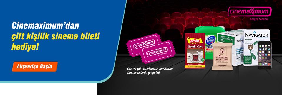 KDV dahil 150 TL'lik alışveriş yap, çift kişilik sinema biletini kap!