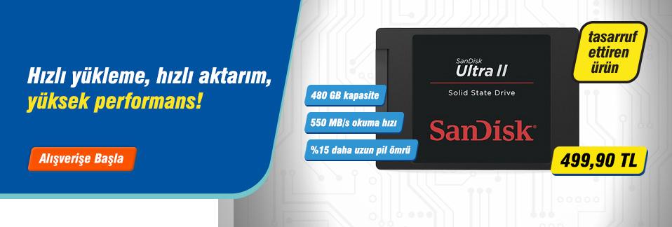 SanDisk Ultra II SSD ile bilgisayarınızın performansını 28 kata kadar artırın!