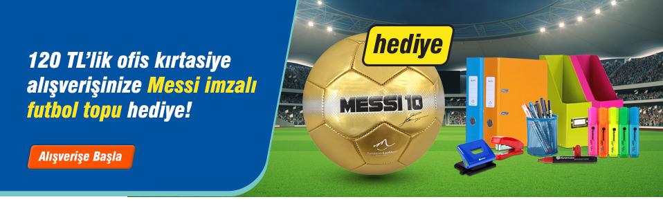 Messi imzalı futbol topu hediyenizi stoklar bitmeden alın!