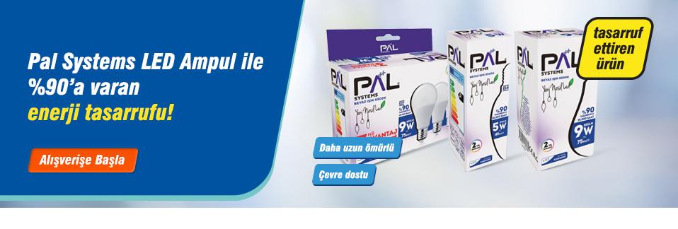 Pal Systems LED Ampul uygun fiyatı ve %90'a varan enerji tasarrufu ile Avansas.com'da!
