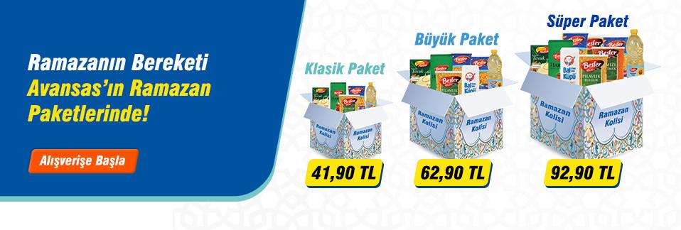 Çalışanlarınız için farklı boy Ramazan Paketleri Avansas.com'da!